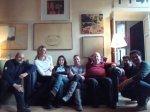 Stefa con Fabio Mauri e gli altri assistenti, a casa del Maestro.
